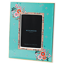 "Buy Wedgwood Wonderlust Camellia Picture Frame, Blue/Multi, 4 x 6"" (10 x 15cm) Online at johnlewis.com"