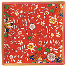 Buy Wedgwood Wonderlust Jewel Tea Tray, Crimson/Multi, 14.5cm Online at johnlewis.com