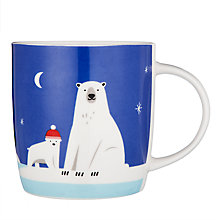 Buy John Lewis Polar Bear Porcelain Mug In A Money Box Tin, Blue/White, 350ml Online at johnlewis.com