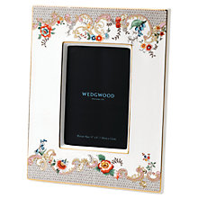 "Buy Wedgwood Wonderlust Rococo Flowers Picture Frame, White/Multi, 4 x 6"" (10 x 15cm) Online at johnlewis.com"