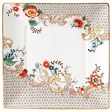 Buy Wedgwood Wonderlust Rococo Flowers Tea Tray, White/Multi, 14.5cm Online at johnlewis.com