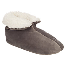 Buy John Lewis Faux Sheepskin Foot Duvets, Grey Online at johnlewis.com