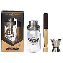 Buy Gentlemen's Hardware Muddler and Mason Jar Cocktail Set Online at johnlewis.com