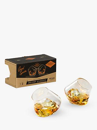 Gentlemen's Hardware Rocking Whiskey Glasses, Set of 2