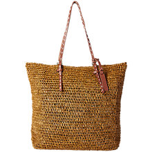Buy White Stuff Tribal Raffia Shopper Bag, Brown Online at johnlewis.com