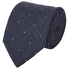 Buy Reiss Hamburg Linen Polka Dot Tie Online at johnlewis.com