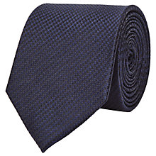 Buy Reiss Ida Silk Houndstooth Tie, Midnight Online at johnlewis.com