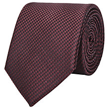 Buy Reiss Ida Silk Houndstooth Tie, Bordeaux Online at johnlewis.com