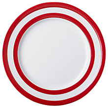 Buy Cornishware Plate, Seconds, Red/White Online at johnlewis.com