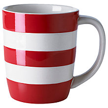 Buy Cornishware Mug, Red/White, 340ml, Seconds Online at johnlewis.com