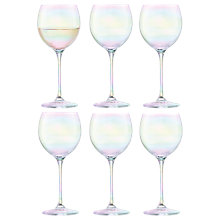 Buy LSA International Polka Mother of Pearl Wine Glass, Set of 6, Clear/Multi, 400ml Online at johnlewis.com