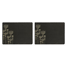Buy Just Slate Botanical Etched Placemats, Set of 2, Black Online at johnlewis.com