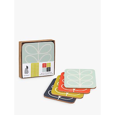 Orla Kiely Linear Flower Coaster, Set of 4, Multi