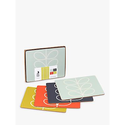 Orla Kiely Linear Stem Placemat, Set of 4, Multi