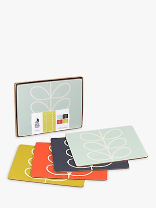 Orla Kiely Linear Stem Placemat, Set of 4, Multi
