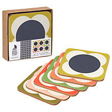 Buy Orla Kiely Flower Spot Coaster, Set of 6, Multi Online at johnlewis.com
