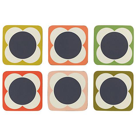 Buy Orla Kiely Flower Spot Coaster, Set of 6, Multi   John Lewis