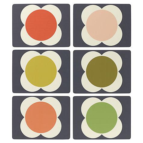 Buy Orla Kiely Flower Spot Placemat, Set of 6, Multi   John Lewis