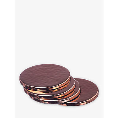 Just Slate Copper Coasters, Set of 4
