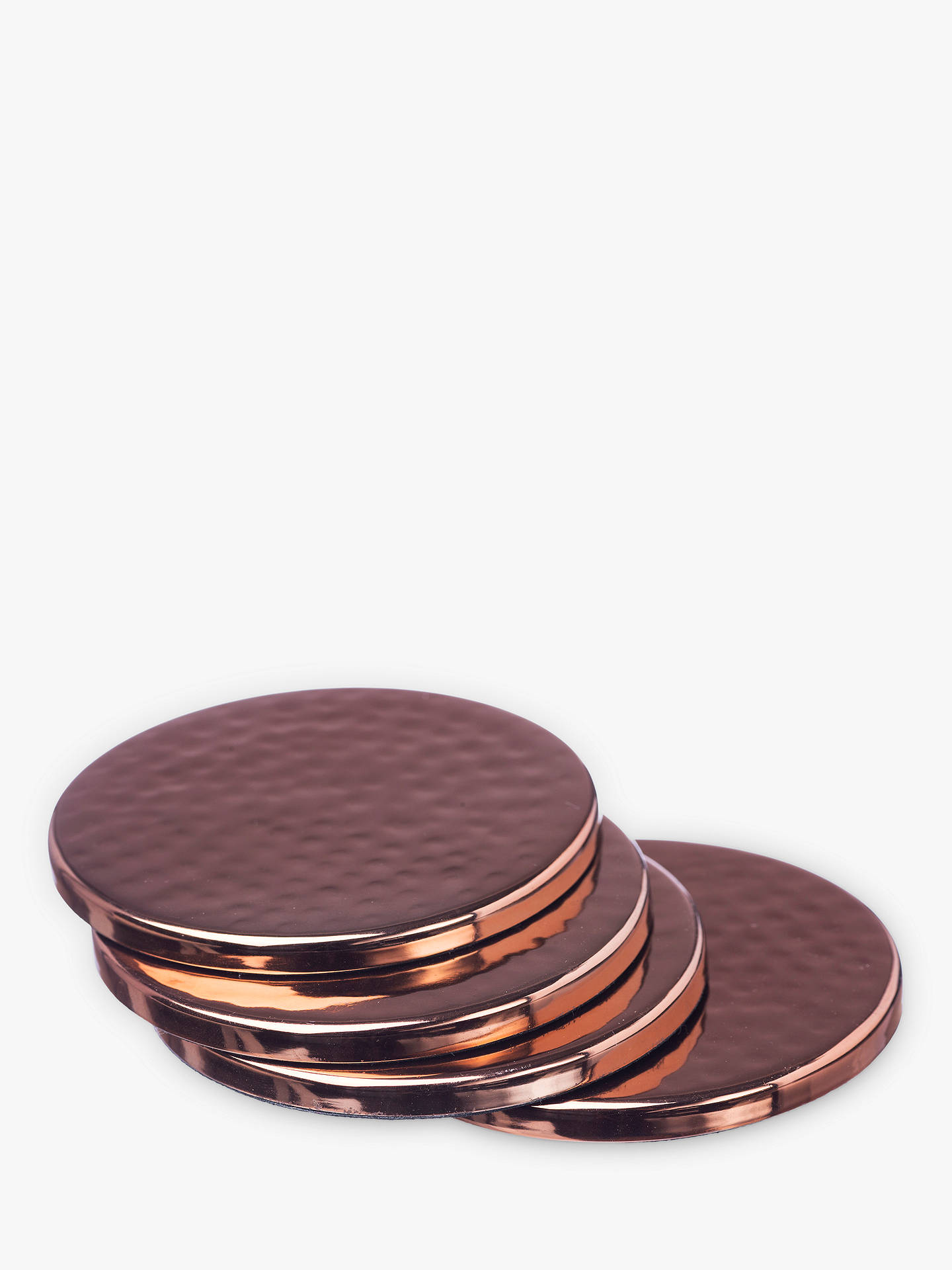 BuyJust Slate Copper Coasters, Set of 4 Online at johnlewis.com