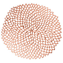 Buy Chilewich Dahlia Placemat, Rose Gold Online at johnlewis.com