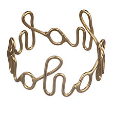 Buy John Lewis Ho Ho Ho Napkin Rings, Gold, Set of 4 Online at johnlewis.com