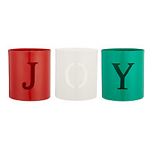 Buy John Lewis Joy Votive Candle Holders, Assorted, Set of 3 Online at johnlewis.com