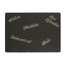 Buy Just Slate Etched Cheese Board, Black Online at johnlewis.com