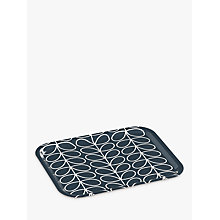 Buy Orla Kiely Medium Linear Stem Tray, Slate/White Online at johnlewis.com