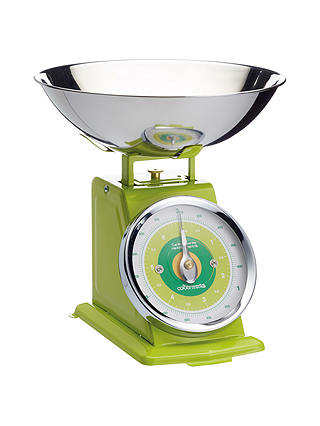 Colourworks Mechanical Kitchen Weighing Scales Green At John Lewis Partners