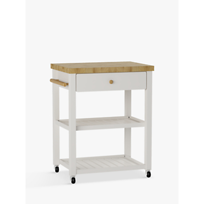 John Lewis Croft Collection Wood Butcher's Trolley