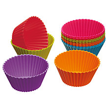 Buy Colourworks Reusable Silicone Cup Cake Cases, Set of 12, Assorted Online at johnlewis.com