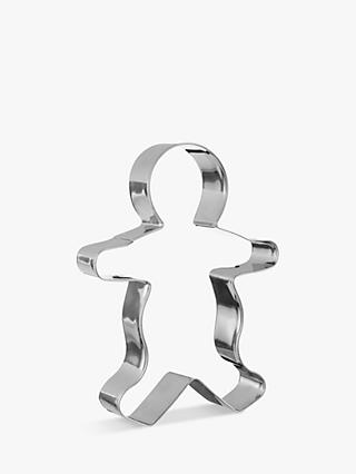 John Lewis & Partners Stainless Steel Gingerbread Cutter