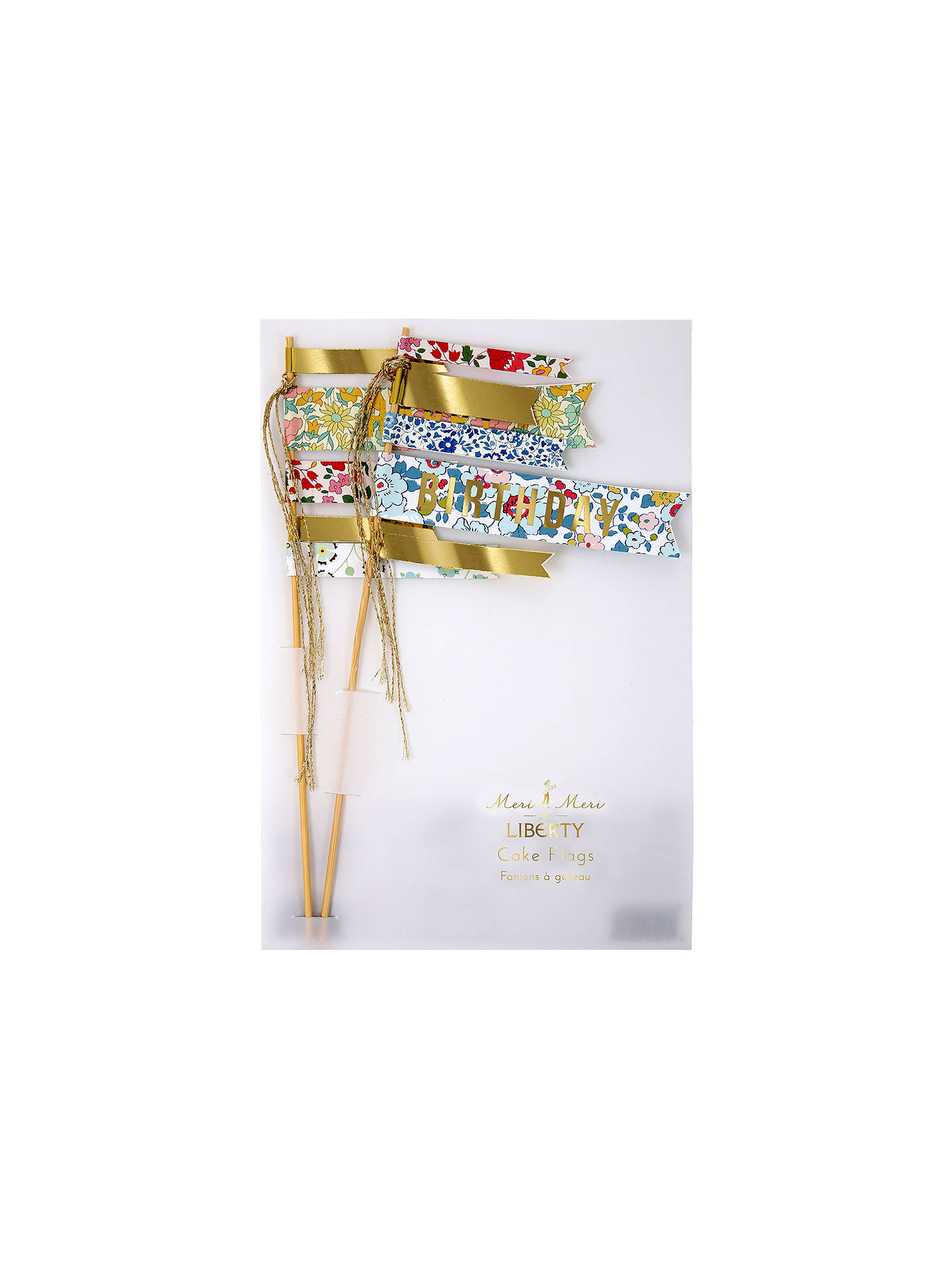 Meri Meri For Liberty Birthday Cake Flag Topper Set Of 2 At John