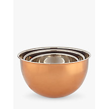 Buy John Lewis Croft Collection Copper Mixing Bowls, Set of 3 Online at johnlewis.com