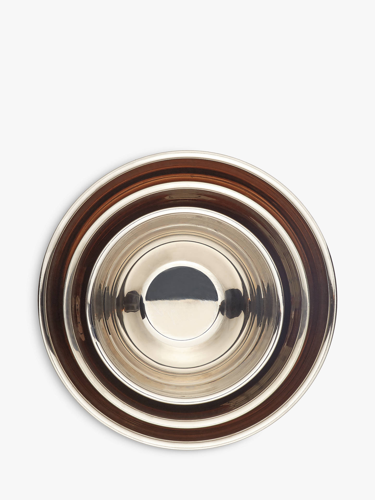 BuyCroft Collection Copper Mixing Bowls, Set of 3 Online at johnlewis.com