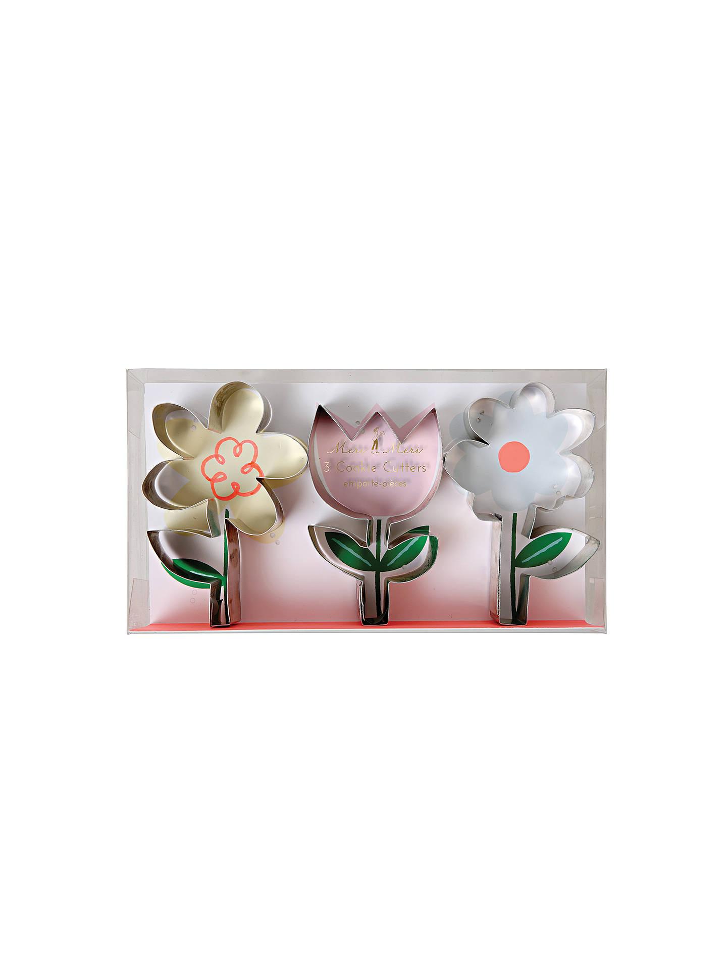 Meri Meri Flower Cookie Cutters Set Of 3 At John Lewis Partners