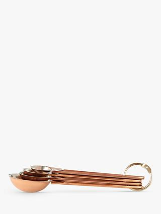 Croft Collection Measuring Spoons, Set of 4, Copper