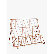 Buy Croft Collection Copper Cookbook Stand Online at johnlewis.com