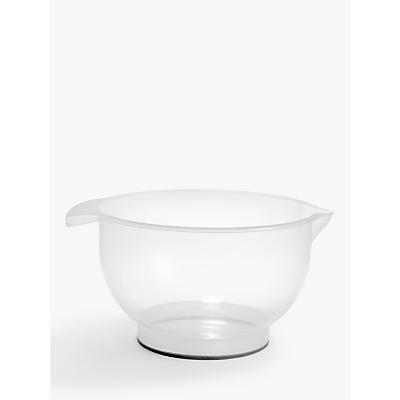 Image of John Lewis & Partners Non-Slip Polypropylene Mixing Bowl, Clear, 6L