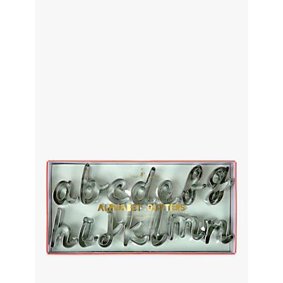 Image of Meri Meri Alphabet Cookie Cutters, Set of 26