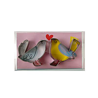Image of Meri Meri Love Birds Cookie Cutters, Set of 2