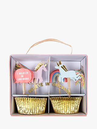 Meri Meri I Believe In Unicorns Cupcake Kit, Set of 24
