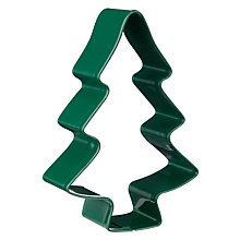 Buy John Lewis Christmas Tree Shaped Stainless Steel Cookie Cutter, Green Online at johnlewis.com