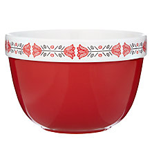 Buy John Lewis Folklore Pudding Basin, Red, Dia.17cm Online at johnlewis.com