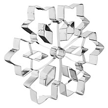 Buy John Lewis Snowflake Shaped Stainless Steel Cookie Cutter, Large Online at johnlewis.com