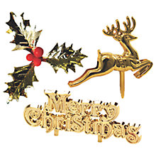 Buy Creative Party Merry Christmas Deer and Holly Cake Topper Set Online at johnlewis.com