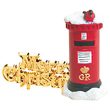 Buy John Lewis Traditional Christmas Postbox and Robin Cake Topper Online at johnlewis.com