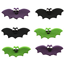 Buy Creative Party Sugarcraft Halloween Bat Cake Toppers, Pack of 6 Online at johnlewis.com