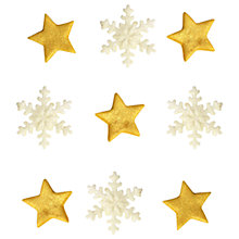 Buy Creative Party Sugarcraft Christmas Sparkly Star Cake Toppers, Pack of 9 Online at johnlewis.com